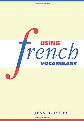 9780521578516: Using French Vocabulary (English and French Edition)