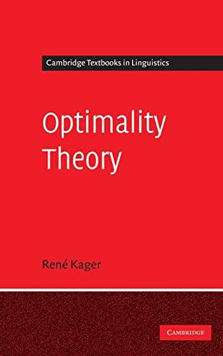 9780521580199: Optimality Theory (Cambridge Textbooks in Linguistics)