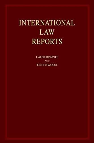 9780521580663: International Law Reports: Volume 104