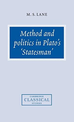 9780521582292: Method and Politics in Plato's Statesman (Cambridge Classical Studies)