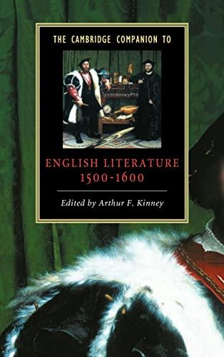 9780521582940: The Cambridge Companion to English Literature, 1500-1600