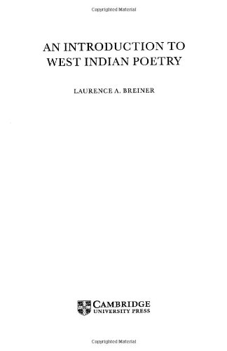 9780521583312: An Introduction to West Indian Poetry