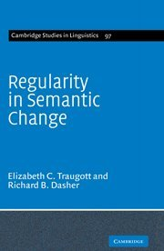 9780521583787: Regularity in Semantic Change (Cambridge Studies in Linguistics)