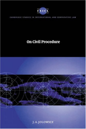 9780521584197: On Civil Procedure (Cambridge Studies in International and Comparative Law)