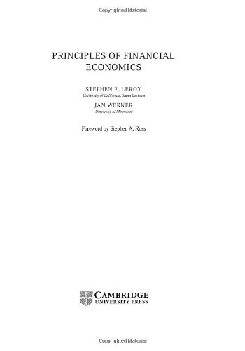 9780521584340: Principles of Financial Economics