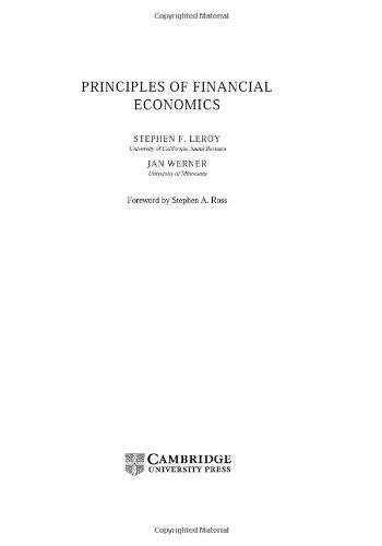 9780521584340: Principles of Financial Economics