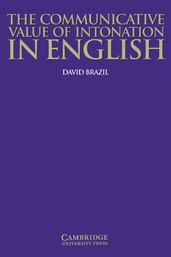 9780521584579: The Communicative Value of Intonation in English Book (Applied Linguistics Non)