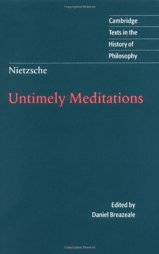 9780521584586: Untimely Meditations (Cambridge Texts in the History of Philosophy)