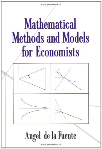9780521585293: Mathematical Methods and Models for Economists