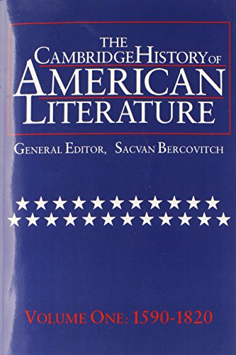 9780521585712: The Cambridge History of American Literature, Vol. 1: 1590-1820