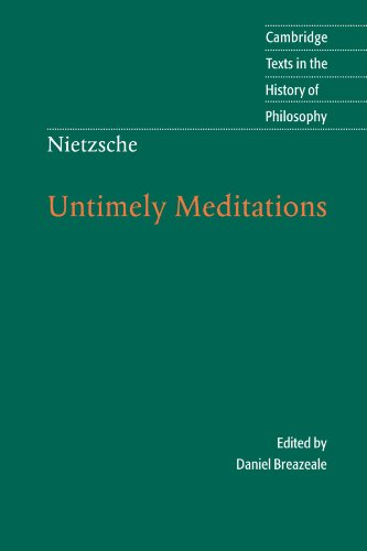 9780521585842: Nietzsche: Untimely Meditations (Cambridge Texts in the History of Philosophy)