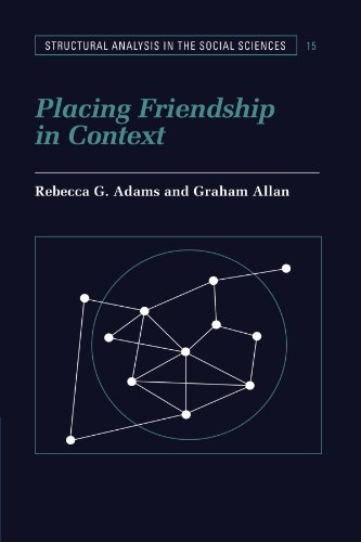 9780521585897: Placing Friendship in Context (Structural Analysis in the Social Sciences)
