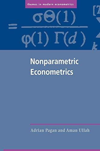 9780521586115: Nonparametric Econometrics Paperback (Themes in Modern Econometrics)