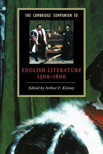9780521587587: The Cambridge Companion to English Literature, 1500-1600