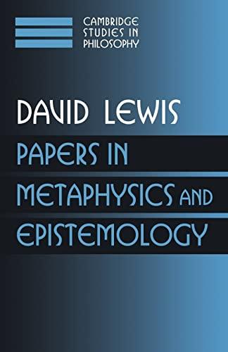 9780521587877: Papers in Metaphysics and Epistemology: Volume 2 (Cambridge Studies in Philosophy)