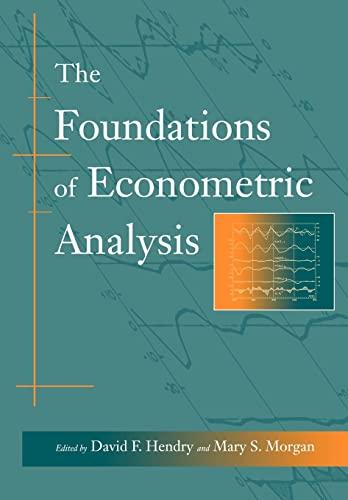 9780521588706: The Foundations of Econometric Analysis Paperback (Econometric Society Monographs)