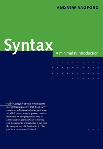 9780521589147: Syntax Paperback: A Minimalist Introduction