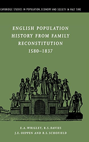 9780521590150: English Population History from Family Reconstitution 1580-1837