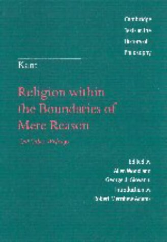 9780521590495: Kant: Religion within the Boundaries of Mere Reason: And Other Writings (Cambridge Texts in the History of Philosophy)