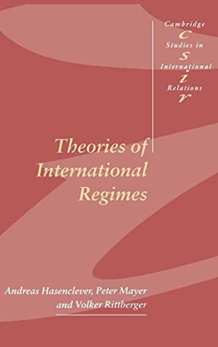 9780521591454: Theories of International Regimes (Cambridge Studies in International Relations)