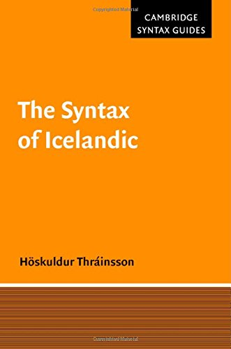 9780521591904: The Syntax of Icelandic (Cambridge Syntax Guides)