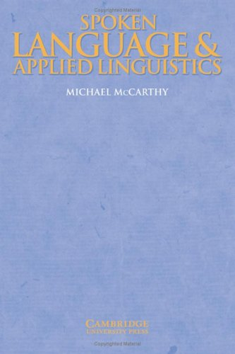 9780521592130: Spoken Language and Applied Linguistics (Cambridge Applied Linguistics)