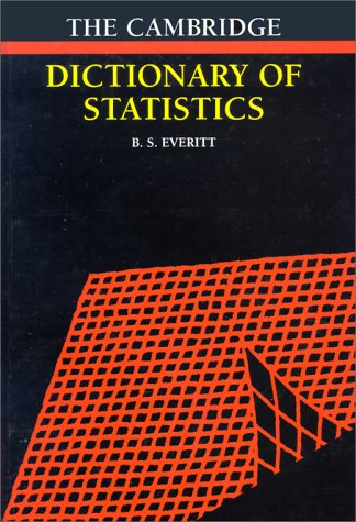 9780521593465: Cambridge Dictionary of Statistics