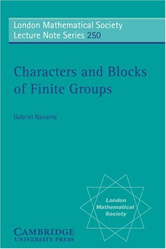 9780521595131: Characters and Blocks of Finite Groups Paperback (London Mathematical Society Lecture Note Series)