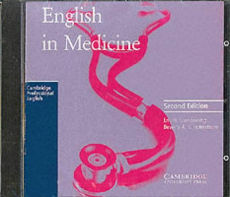 9780521595681: English in Medicine Audio CD: A Course in Communication Skills (Cambridge Professional English)