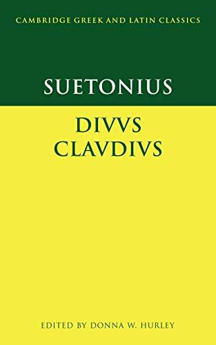 9780521596763: Suetonius: Diuus Claudius Paperback (Cambridge Greek and Latin Classics)