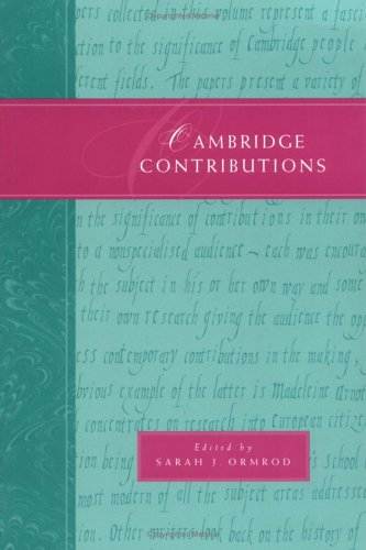 9780521597388: Cambridge Contributions