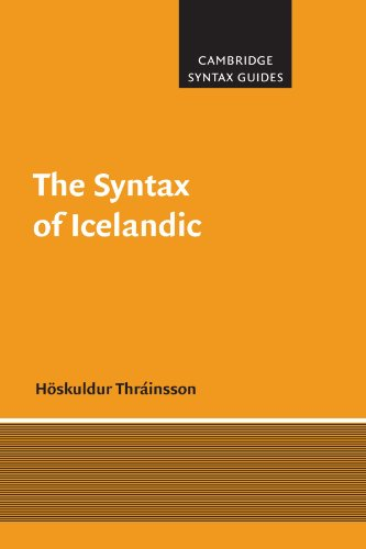 9780521597906: The Syntax of Icelandic (Cambridge Syntax Guides)