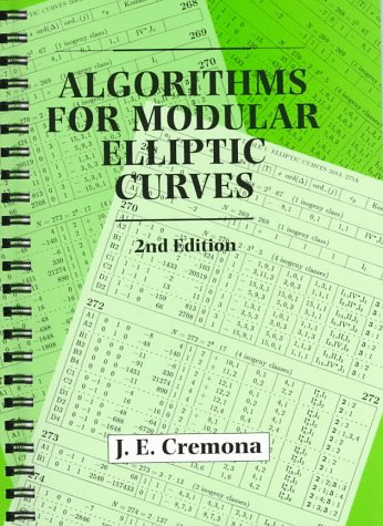 9780521598200: Algorithms for Modular Elliptic Curves Full Canadian Binding