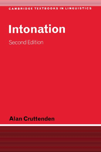 9780521598255: Intonation (Cambridge Textbooks in Linguistics)