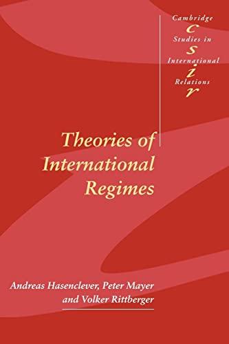 9780521598491: Theories of International Regimes (Cambridge Studies in International Relations)