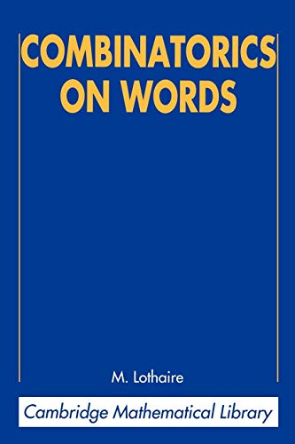 9780521599245: Combinatorics on Words (Cambridge Mathematical Library)
