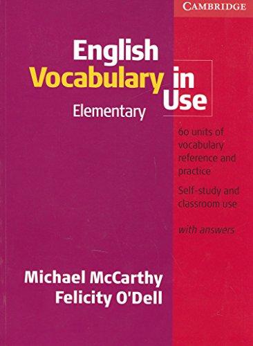 9780521599573: English Vocabulary In Use. Elementary Level (+ Key): Elementary with Answers