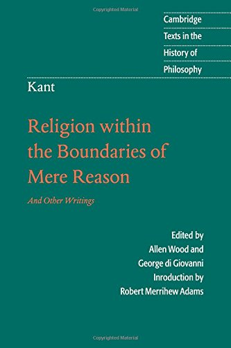 9780521599641: Kant: Religion within the Boundaries of Mere Reason: And Other Writings (Cambridge Texts in the History of Philosophy)