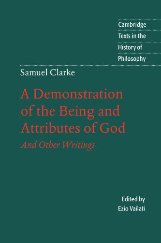 9780521599955: A Demonstration of the Being and Attributes of God And Other Writings (Cambridge Texts in the History of Philosophy)