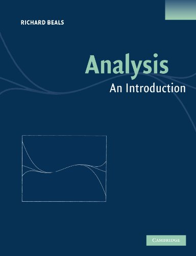 9780521600477: Analysis: An Introduction