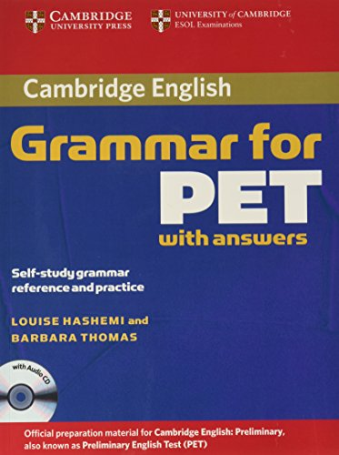 9780521601207: Cambridge Grammar for PET Book with Answers and Audio CD: Self-Study Grammar Reference and Practice (Cambridge Books for Cambridge Exams)