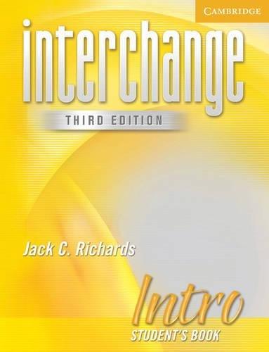 9780521601511: Interchange Intro 3rd Ed Student's Book (Interchange Third Edition)
