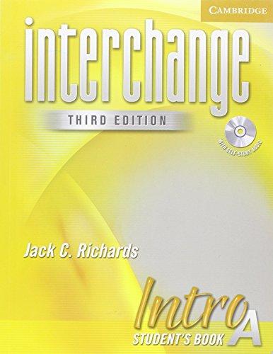 9780521601535: Interchange 3rd Intro Student's Book A with Audio CD (Interchange Third Edition)