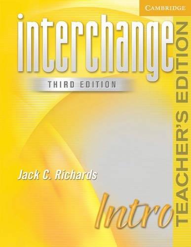 9780521601580: Interchange Intro Teacher's Edition (Interchange Third Edition)
