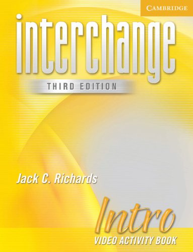 9780521601696: Interchange Intro Video Activity Book (New Interchange Video Activity Book)