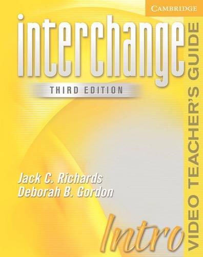 9780521601702: Interchange Intro Video Teacher's Guide (Interchange Third Edition)