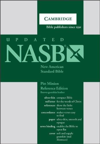Pitt Minion Reference Bible-NASB (Leather): Baker Publishing Group