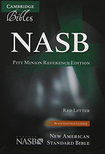 9780521604123: NASB Pitt Minion Reference Bible, Black Goatskin Leather, Red Letter Text NS446:XR