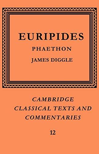 9780521604246: Euripides: Phaethon