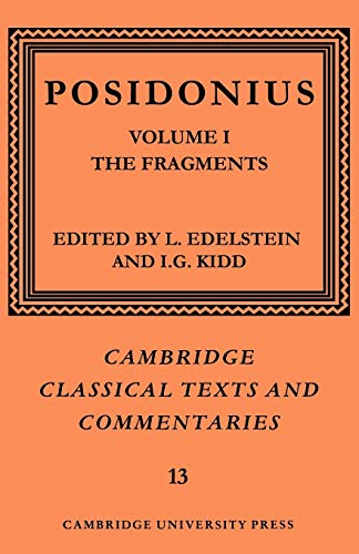 9780521604253: Posidonius: Volume 1, The Fragments (Cambridge Classical Texts and Commentaries)
